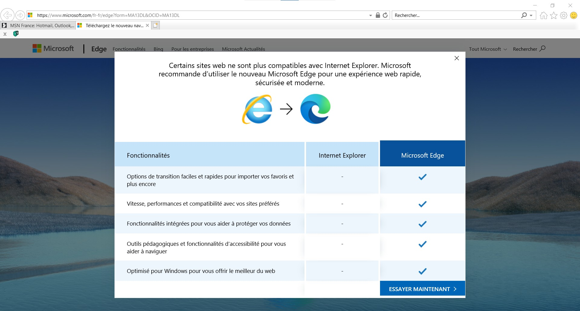 Internet Explorer : Microsoft bloque certains sites !